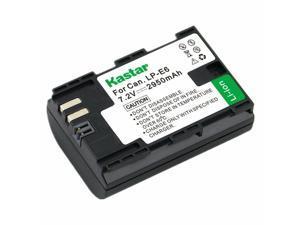 Kastar LPE6 Battery for Canon EOS 6D, 7D, 7D Mark II, 60D, 60Da, 70D, XC10