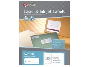 """Maco ML-3000 Address Labels 1"""" x 2-5/8 --30 to The Page 30,000 Labels"""