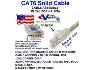 RED UTP Cat.6 Ethernet Patch Cable UL CMR 23AWG Made in USA Super E cable SKU-81977 105 FT