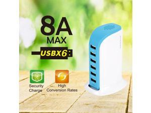 40W Multi 6 Port USB Charger 8A Fast Charging Station Desktop Travel Hub Adapter