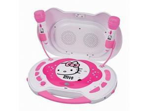 Hello Kitty KT2003CA CD Karaoke System CD Player AC Adapter Speakers, 2x Mic