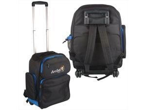 Arriba LS520 DJ Travel Backpack And Gear Bag With Wheels & Shoulder Straps New