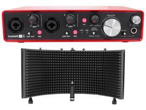 Focusrite SCARLETT 2I4 2nd Gen 192kHz Audio Recording Interface+Isolation Shield