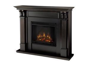"""Real Flame 48"""" Ashley Electric Fireplace, Medium in Blackwash Finish, 7100E-BW"""