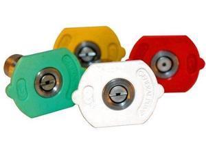 General Pump 9.803-811.0 Yellow QC Nozzle 10pk 15045 15 Degrees, Size #045