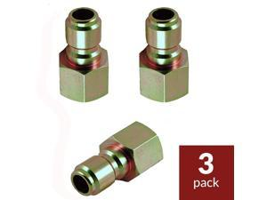 "Legacy 9.802-170.0-3PK Pressure Washer Hose Quick Coupler Plug 3/8"" FPT - 3 Pack"