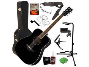 ac1c24c5a2293 Yamaha FG820 Acoustic Guitar - Black ...
