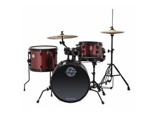 Ludwig LC178X025 Questlove Pocket Kit 4-Piece Kids Drum Set, Wine Red Sparkle