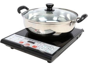 Tayama SM15-16A3 Induction Cooker with Cooking Pot, Black