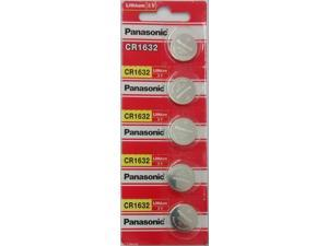 5 x SUPER FRESH Panasonic CR1632 ECR1632 Lithium Battery 3V Coin Cell Exp. 2027