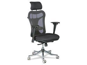 Balt Ergo Ex Executive Office Chair Mesh Back/Upholstered Seat Black/Chrome