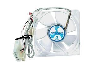 Antec 761345750806 TriCool 80MM Dynamic RPM 80mm PC Computer Case Fan (Clear)
