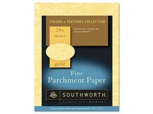 Southworth P994CK336 Parchment Specialty Paper Gold 24 lbs. 8.5 x 11 100-Box