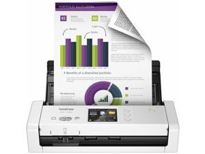 Brother Wireless Compact Desktop Scanner, Ads-1700W, Fast Scan Speeds, Easy-To-U