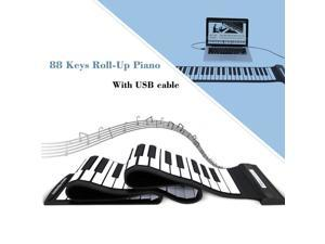 Portable Roll-up 88 Keys MIDI USB Flexible Electronic Piano Music Keyboard Gift