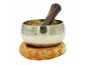 Tibetan Ring Gong Meditation Singing Bowl Mallet Cushion Set