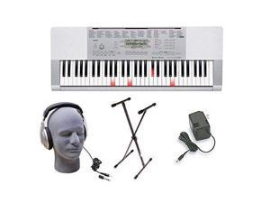 Casio LK280 Lighted Key Premium Keyboard Pack with Headphones, Power Supply, an