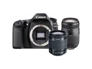 Canon EOS Rebel 80D 24.2MP DSLR Camera + 18-55mm + Tamron 70-300mm Lens