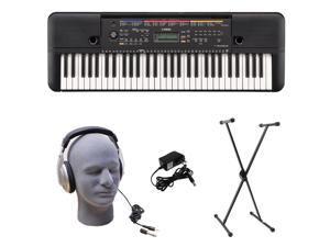 Yamaha PSR-E263 PKS 61-Key Premium Keyboard Pack with Stand, Headphones & Pow...