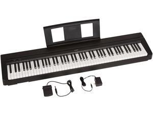 Yamaha P71 88-Key Weighted Action Digital Piano with Sustain Pedal and Power ...