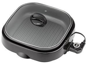 aroma housewares asp218b 3in1 grillet indoor grill 4quart black