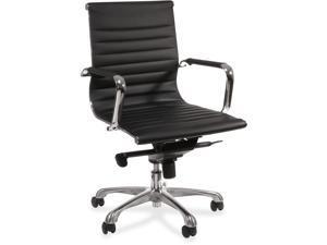 Outstanding Brenton Studio Mayhart Vinyl Mid Back Chair Brown Black Alphanode Cool Chair Designs And Ideas Alphanodeonline
