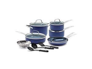 blue diamond pan cc001951001 cookwareset, 14pc, blue