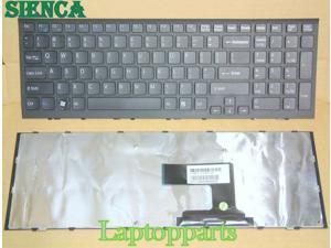 OEM SONY VAIO VPC-EF47FX VPCEF47FX VPCEF47FX//BI US Black Keyboard With Frame NEW
