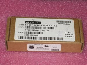 ALCATEL LUCENT 3HE00027AA GIG Et 1000BASE-SX LC SFP OPTICS MODULE FOR 3HE01616AA