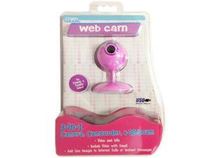 Cyber Gear Pink Daisy VGA Webcam With Microphone
