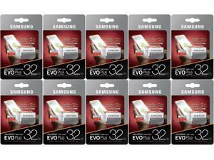 10 Pack Samsung EVO PLUS 32GB micro SDHC 95MB/s C10 UHS U1 32G microSD MB-MC32GA