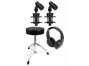 2) Beyerdynamic TG D35 Drum Microphones For Toms and Snares+Throne+Headphones