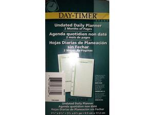 """Day-Timer Undated Daily Planner 2 Months of Pages 3 3/4"""" x 6 3/4"""" (9.5 x 17.2cm)"""