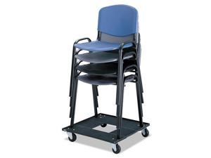 Safco Stacking Chair Cart, 23-1/8w X 23-1/8d X 4-1/2h, Black 4188 NEW