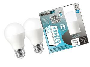 Pack of 4 Soft White Miracle LED 604715 Low Profile General Purpose LED Bulb with Medium Base