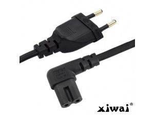 Xiwai Europe 2pin Male to 90 Degree Right Angled IEC 320 C7 Power Supply Cord cable 1M