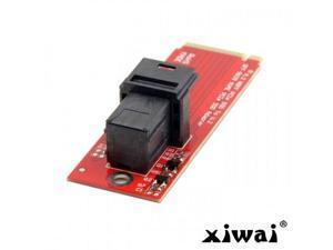 Xiwai SFF-8639 NVME PCIe SSD U.2 U2 Kit Adapter for Mainboard Intel SSD 750 p3600 p3700 M.2 SFF-8643 Mini SAS HD