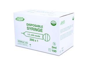 "Syringe 3Cc 25G X 1"" L/L 100/Box"