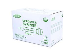 "Syringe 3Cc 23G X 1"" L/L 100/Box"