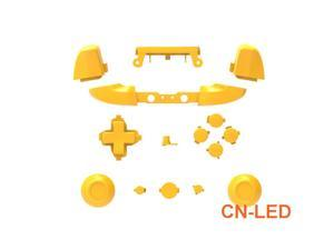 WPS Matte Yellow ABXY Dpad Triggers Full Buttons Set Mod Kits for Newest Xbox One Slim/Xbox one S Controller with Screwdriver (Torx T6 T8) Set  for 1708 version