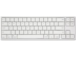 Ducky X Varmilo MIYA Pro Mac White LED 65% Dye Sub PBT Mechanical Gaming Keyboard Cherry MX Red NKRO Detachable USB Type-C Wired White
