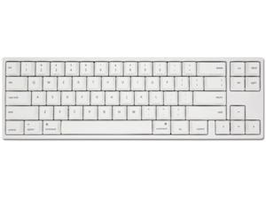 Ducky X Varmilo MIYA Pro Mac White LED 65% Dye Sub PBT Mechanical Gaming Keyboard Cherry MX Silent Red NKRO Detachable USB Type-C Wired White