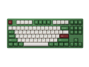 Akko 3087DS Matcha Red Bean Full Size Gaming Mechanical Keyboard Programmable with OEM Profiled PBT Doubleshot Keycaps and N-Key Rollover Green&Red