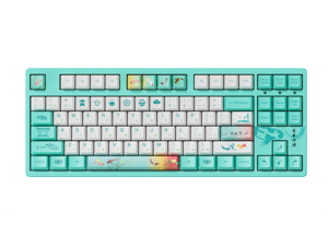 AKKO 3087v2 Monet's Pond TKL Gaming Mechanical Keyboard Double Shot Five-Side Dye Sub PBT Keycaps NKRO Detachable USB Type-C with Japanese Hiragana