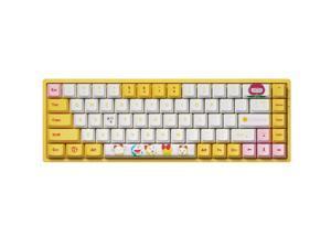 Akko 3068v2 Doraemon RGB Bluetooth 5.0/Wired Gaming Mechanical Keyboard Hot-Swap Dye-Sublimation PBT Keycaps Blue/White