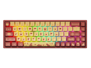 Akko 3068v2 Year of the Ox RGB Bluetooth 5.0/Wired Gaming Mechanical Keyboard Hot-Swap Dye-Sublimation PBT Keycaps Red/Yellow
