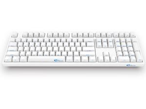 Akko 3108 Full Size Gaming Mechanical Keyboard Cherry MX Brown Switch Double Shot Dye Sub PBT Keycaps NKRO Detachable USB Type-C Wired Side Printed/Carved Letter White