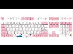 AKKO World Tour-Toyko Special Design OEM Profile PBT Keycap Set for Mechanical Gaming Keyboard - Sakura Pink