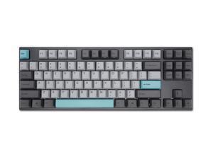 Varmilo VA87M Moonlight TKL Gaming Mechanical Keyboard Cherry MX Blue Switch 87 Keys White LED Backlit Dye Sub PBT Keycaps NKRO Detachable USB Wired Black/Grey/Blue