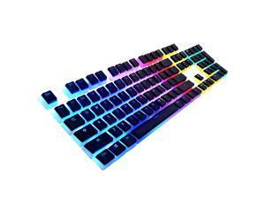 PandaTek 104-key Double Shot Backlit PBT Pudding Keycap Set OEM Profile With Keypuller for RGB Mechanical Keyboard IKBC/FILCO/DUCKY/AKKO/Cherry MX/Anne Pro2